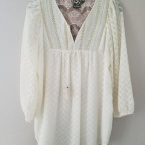 Anthropologie ivory top